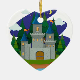 Castle  on the island ceramic ornament