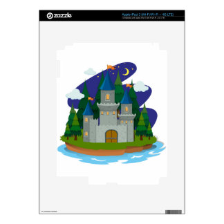 Castle  on the island decals for iPad 3