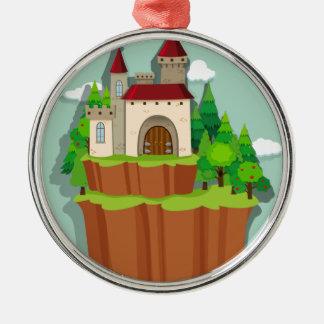 Castle on the island metal ornament