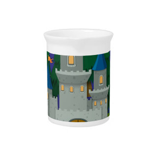 Castle  on the island pitcher