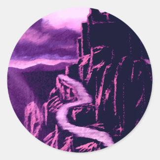 Castle on the Rock CricketDiane Art & Design Classic Round Sticker