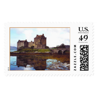 Castle on the shores of Loch Duich Postage Stamp