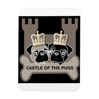 castle or the pugs magnet