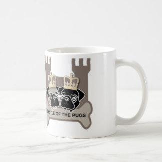 castle or the pugs sulk with logo coffee mug