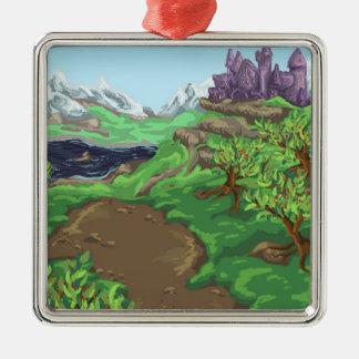 Castle Path Metal Ornament