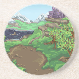 Castle Path Sandstone Coaster