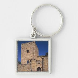 Castle Pedraza, Castile Leon, Spain 2 Silver-Colored Square Keychain