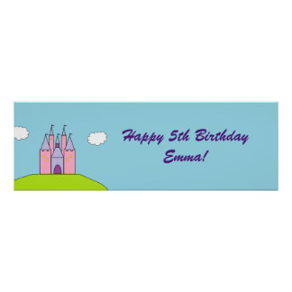 """""""Castle"""" Personalized Banner Poster"""
