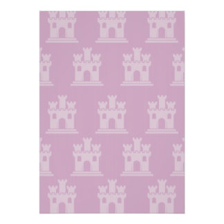 Castle Pinks Poster