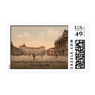 Castle Place, Turin, Italy 1905 Postage
