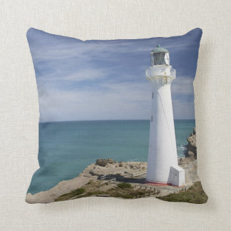Castle Point Lighthouse, Castlepoint, Wairarapa, Throw Pillow