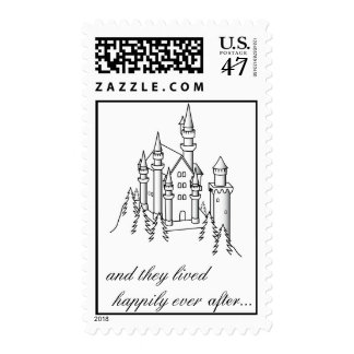 Castle Postage Stamp