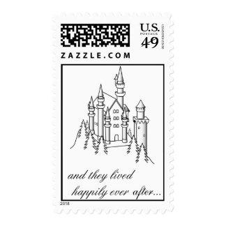 Castle Postage Stamp