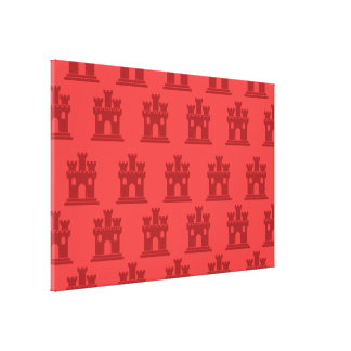 Castle reds canvas print