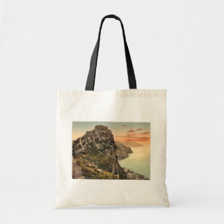 Castle Rock in the Valley of Rocks, Lynton and Lyn Budget Tote Bag