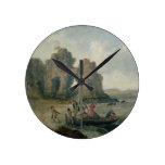 Castle Rock (isla) de Flatholm, canal de Bristol,  Reloj Redondo Mediano