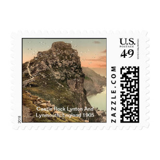 Castle Rock Lynton And Lynmouth, England 1905 Postage