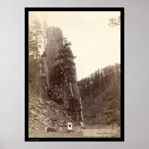 Castle Rock SD 1888 Print