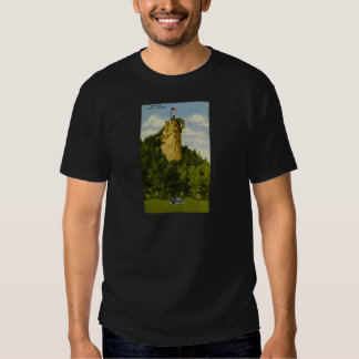 Castle Rock, St Ignace, Michigan Playera