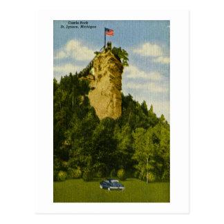 Castle Rock, St Ignace, Michigan Post Cards