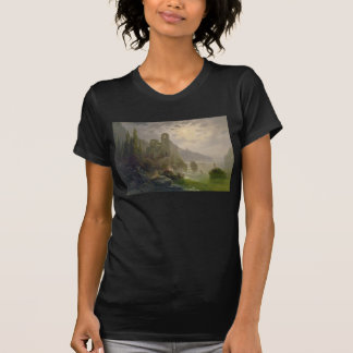 Castle Ruins by a Lake by Albert Rieger T-Shirt