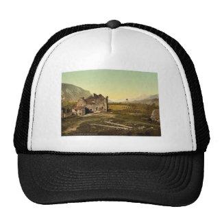 Castle ruins, Granges, Valais, Switzerland vintage Mesh Hat