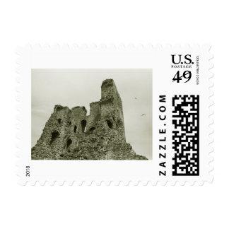 Castle ruins postage