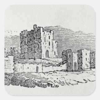 Castle Ruins Square Sticker