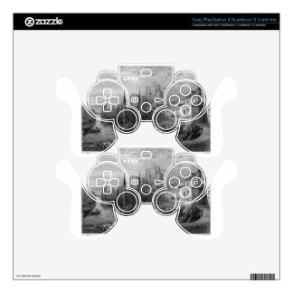 Castle Rushen, Castleton, Isle of Man, engraving b Decal For PS3 Controller