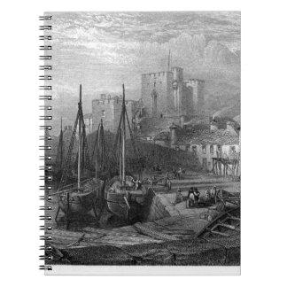 Castle Rushen, Castleton, Isle of Man, engraving b Notebook