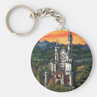Castle Schloss Neuschwanstein Basic Round Button Keychain