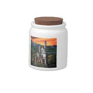 Castle Schloss Neuschwanstein Candy Jar
