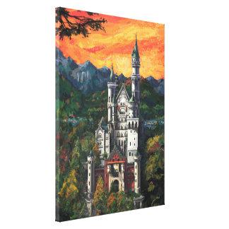 Castle Schloss Neuschwanstein Canvas Print