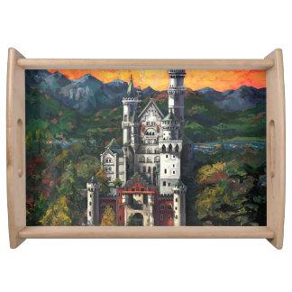 Castle Schloss Neuschwanstein Service Trays