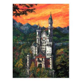 Castle Schloss Neuschwanstein Postcard