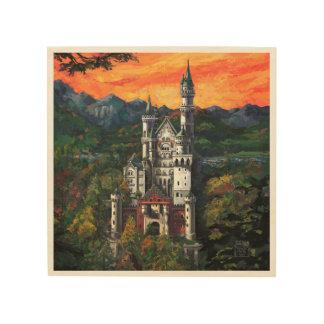 Castle Schloss Neuschwanstein Wood Wall Art
