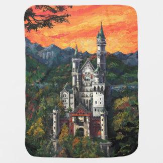 Castle Schloss Neuschwanstein Baby Blankets