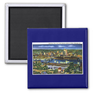 Castle Shannon Incline, Pittsburg, PA 2 Inch Square Magnet