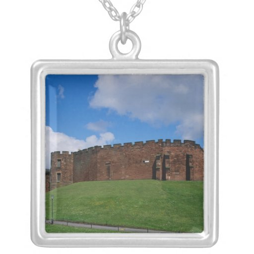 Castle showing half moon tower, Chester, Jewelry
