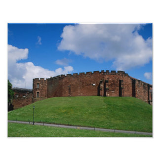 Castle showing half moon tower, Chester, Photo Print