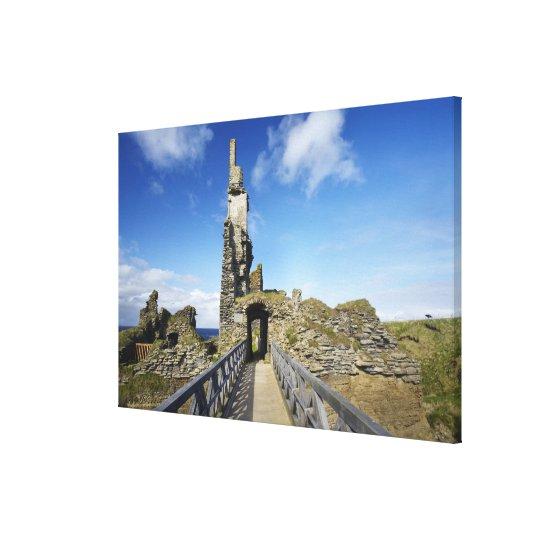 Castle Sinclair Girnigoe, Wick, Caithness, 2 Canvas Print