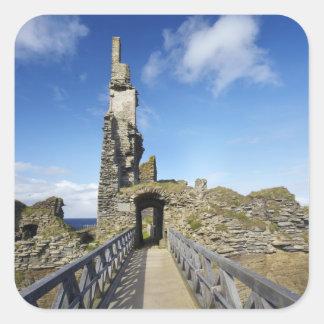 Castle Sinclair Girnigoe, Wick, Caithness, 2 Square Sticker