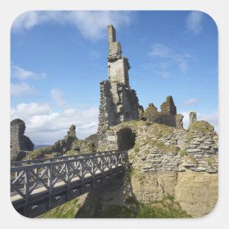 Castle Sinclair Girnigoe, Wick, Caithness, Square Sticker
