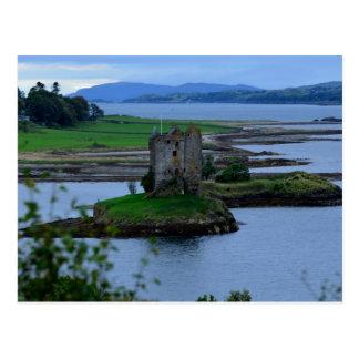Castle Stalker in Scotland Postcard