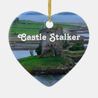 Castle Stalker Double-Sided Heart Ceramic Christmas Ornament