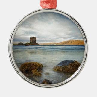 Castle Stalker, Scotland Metal Ornament