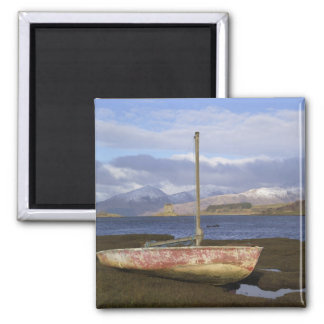 Castle Stalker with fishing boat in the Fridge Magnet