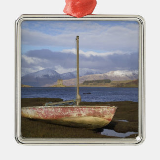 Castle Stalker with fishing boat in the Metal Ornament