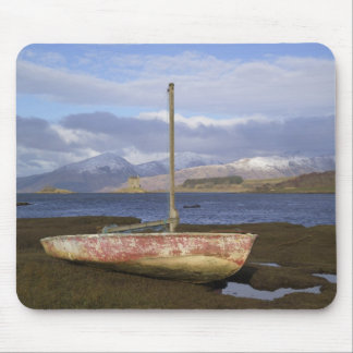 Castle Stalker with fishing boat in the Mouse Pad