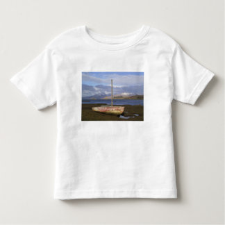 Castle Stalker with fishing boat in the Toddler T-shirt
